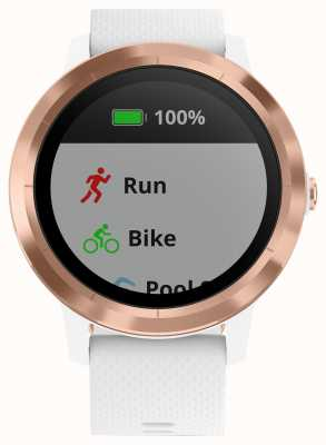 Garmin Vivoactive 3 hr multisport tracker белое резиновое розовое золото 010-01769-05