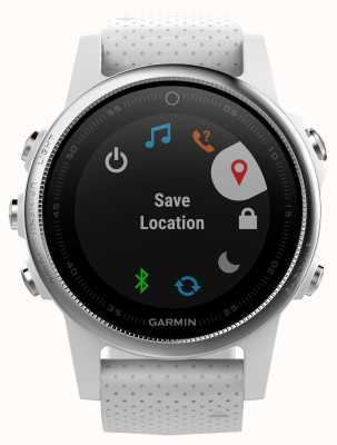 Garmin Fenix ​​5s carrara white band серебристая рамка 010-01685-00