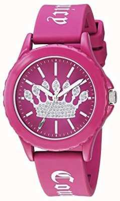 Juicy Couture Женские розовые силиконовые ремешок смотреть розовые короны циферблат JC-1001HPHP