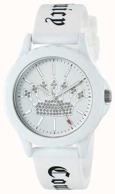Juicy Couture Белый белый силиконовый ремешок смотреть белый набор коронки JC-1001WTWT