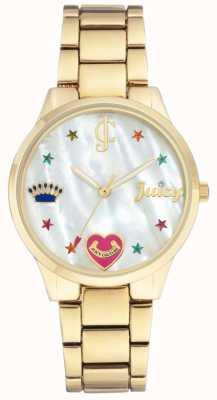 Juicy Couture Женские золотые тональные браслеты с цветными маркерами JC-1016MPGB