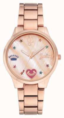 Juicy Couture Женские розовые золотые тональные браслеты с цветными маркерами JC-1016RMRG