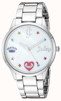 Juicy Couture Женские серебряные браслеты с цветными маркерами JC-1017MPSV