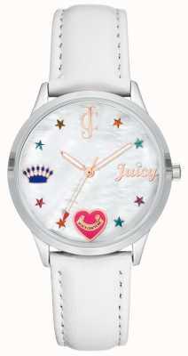 Juicy Couture Женские белые часы с силиконовым ремешком и цветными маркерами JC-1019WTWT