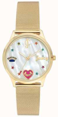 Juicy Couture Женские золотые браслеты с цветными маркерами JC-102WTGB