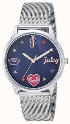Juicy Couture Серебряный сетчатый браслет | цветные маркеры | синий JC-1025BMSV
