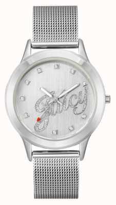 Juicy Couture Серебряный браслет из сетчатого серебра JC-1033SVSV