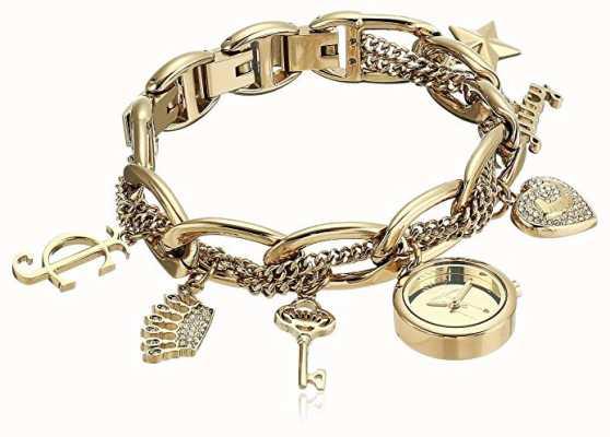 Juicy Couture Женские золотые часы из нержавеющей стали JC-1040GPCH
