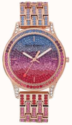 Juicy Couture Женские блестящие часы с розовым тоном из стали JC-1044MTRG
