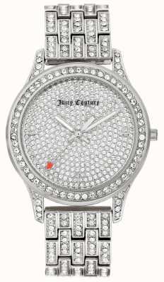 Juicy Couture Женский серебряный браслет из нержавеющей стали JC-1045PVSV