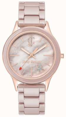 Juicy Couture Женские аналоговые часы из стального браслета JC-1048TPRG