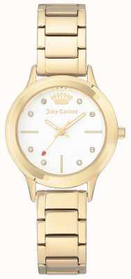 Juicy Couture Женский золотой браслет из нержавеющей стали белого цвета JC-1050WTGB