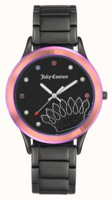 Juicy Couture Черный черный браслет черного цвета с цветной рамкой JC-1053MTBK