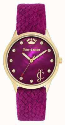 Juicy Couture Женский бордовый набор | бордовый бархатный ремень | JC-1060HPHP