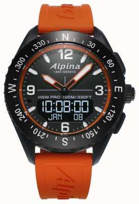 Alpina Alpinerx smartwatch оранжевый резиновый ремешок AL-283LBO5AQ6