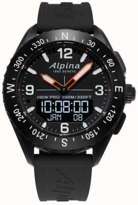 Alpina Alpinerx smartwatch черный резиновый ремешок AL-283LBB5AQ6