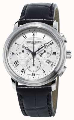 Frederique Constant Мужская классика хронограф черный кожаный ремешок FC-292MC4P6