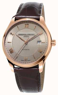 Frederique Constant Мужская классика позолоченная коричневая кожа FC-303MLG5B4