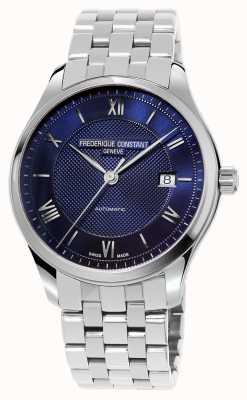 Frederique Constant Мужской браслет из нержавеющей стали с синим циферблатом FC-303MN5B6B