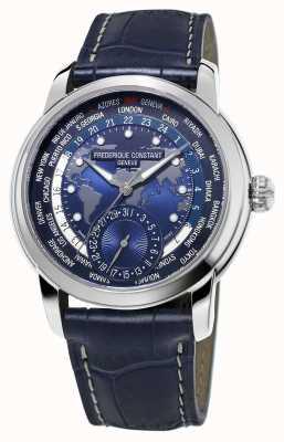 Frederique Constant Мужской производитель worldtimer синий циферблат синий ремешок FC-718NWM4H6