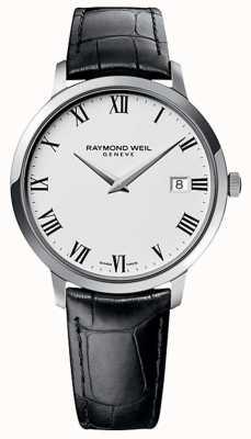 Raymond Weil Мужская черная кожаный ремешок для черной кожи 5588-STC-00300