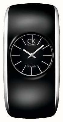 Calvin Klein Глянцевые женские все черные маленькие часы K6095101