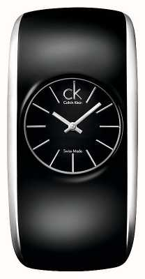 Calvin Klein Глянцевые женские все черные часы K6093101