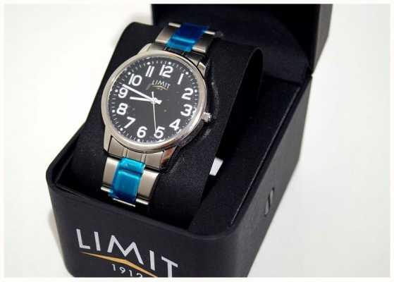 Limit | мужские | черный циферблат | браслет из нержавеющей стали | 5648