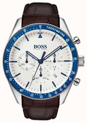 Hugo Boss Мужская трофейная белая циферблат 1513629