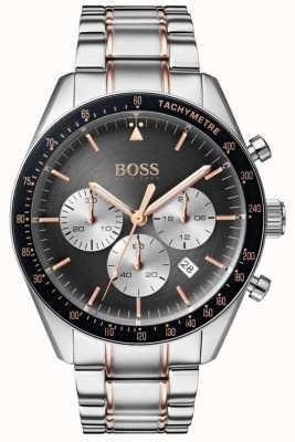Boss Мужские трофейные часы с серым циферблатом хронографа из нержавеющей стали 1513634