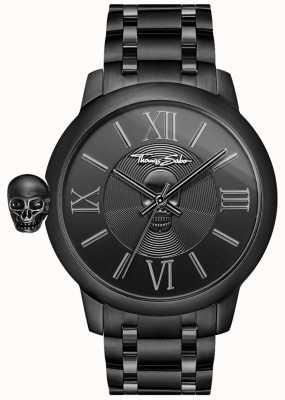 Thomas Sabo Мужские бунтарь с кармой чёрный ip из нержавеющей стали часы с черепом WA0305-202-203