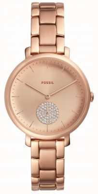 Fossil Женские jaqueline розовые золотые часы браслет часы простой набор ES4438