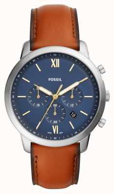 Fossil Мужские часы с хронографом для мужчин с хронографом коричневого цвета FS5453