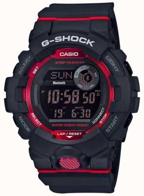 Casio G-squad black / red digital bluetooth step tracker GBD-800-1ER