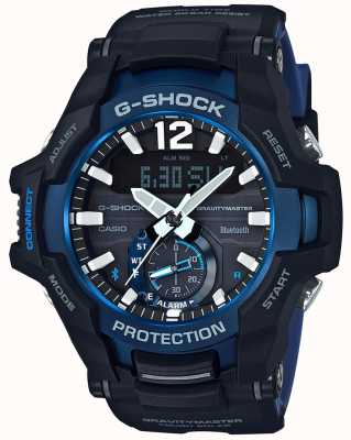 Casio G-shock gravitymaster bluetooth солнечный черный / синий резина GR-B100-1A2ER