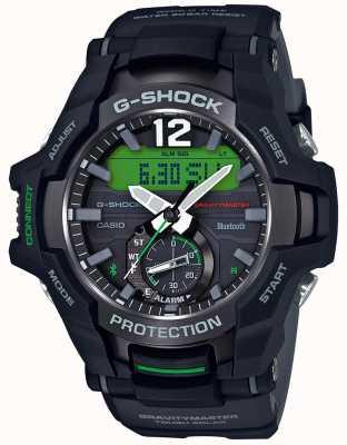 Casio G-shock gravitymaster bluetooth солнечная черная / зеленая резина GR-B100-1A3ER