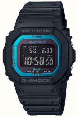 Casio G-shock Bluetooth радиоуправляемая резиновая лента черный / синий GW-B5600-2ER