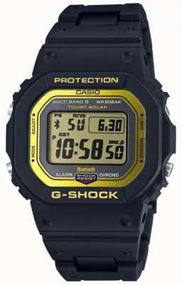 Casio G-shock bluetooth радиоуправляемая композитная полоса черного / желтого цвета GW-B5600BC-1ER