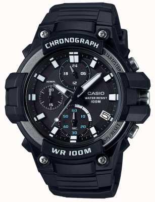Casio Основной спортивный хронограф черный wr100m MCW-110H-1AVEF