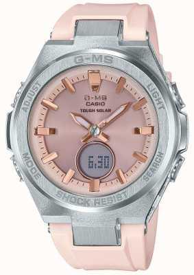 Casio G-ms baby-g жесткий солнечный розовый резиновый ремешок MSG-S200-4AER