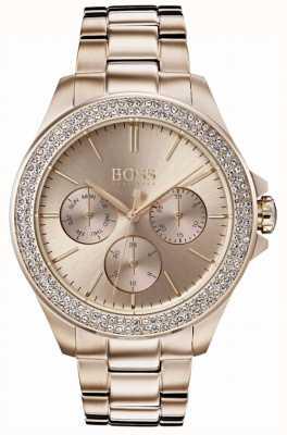 Hugo Boss Женская премьера кристалл установленный позолоченный браслет 1502443
