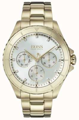 Hugo Boss Женская премьера позолоченный браслет серебристый циферблат 1502445
