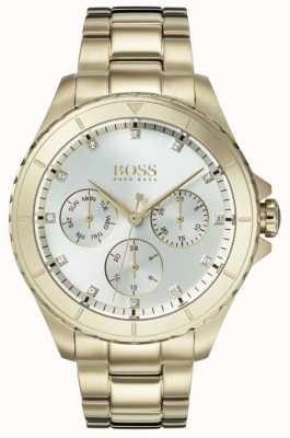 Boss Женская премьера позолоченный браслет серебряный циферблат 1502445