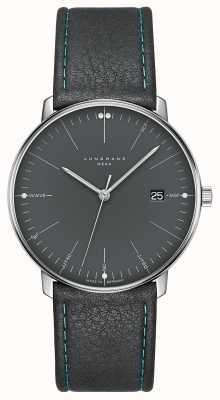 Junghans Малый счет мега-серый серый кожаный ремешок 058/4823.00