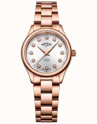 Rotary   женская   оксфорд   алмазный набор   браслет из розового золота   LB05096/02/D