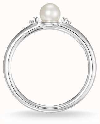 Thomas Sabo Жемчуг из серебра и белого бриллиантового кольца 54 D_TR0039-765-14-54