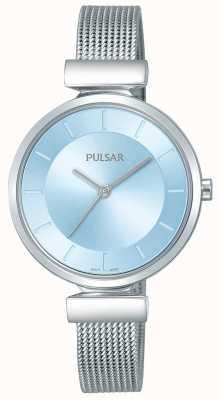 Pulsar Дамы из нержавеющей стали ремень светло-синий циферблат PH8411X1
