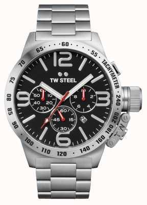 TW Steel Мужская столовая 50мм хронограф из нержавеющей стали CB8