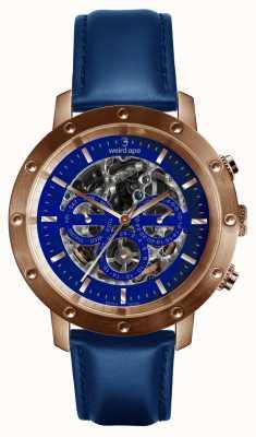 Weird Ape Icarus 3 циферблат синее розовое золото / индиго синий кожаный ремешок WA02-005730