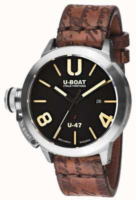U-Boat Classico 47 as1 автоматический черный резиновый ремешок 8105